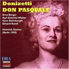 Donizetti: Don Pasquale (Gesamtaufnahme) (Aufnahme Berlin 02.06.1039) [UK-Import]