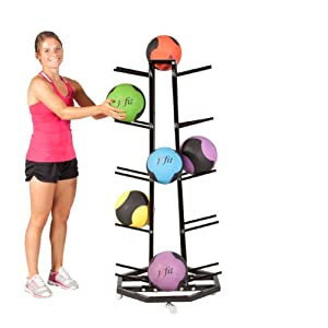 j fit 4-Sided Medicine Ball Rack by JFIT