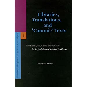 Biblical Canon Canonic Texts In Jewish And Christian Traditions | RM.
