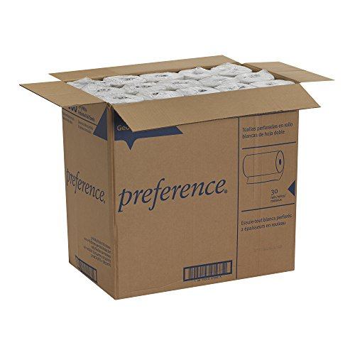 Georgia pacific preference 27300 white 2 ply perforated paper towel roll wxl x Boardwalk 6145 bathroom tissue