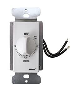 Woods 59714 Decora Style 30-Minute Timer, Mechanical Wall Switch, White