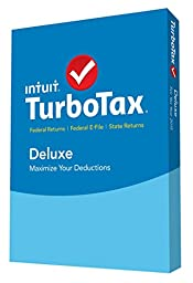 TurboTax Deluxe 2015 Federal + Fed Efile + State Tax Preparation Software - PC/Mac Disc