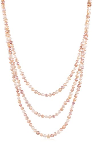 TARA Pearls Multi-Color Freshwater 7x8mm Pearl Strand Necklace