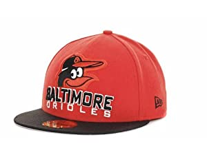 Baltimore Orioles New Era MLB Retro Chop 59FIFTY Cap (Orange Black) by New Era