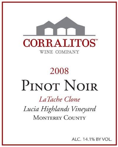 2008 Corralitos Pinot Noir Santa Lucia Highlands La Tache Clone 750 Ml