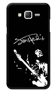 "Humor Gang Jimi Hendrix Monochrome Printed Designer Mobile Back Cover For ""Samsung Galaxy On5"" (3D, Glossy, Premium Quality Snap On Case)"