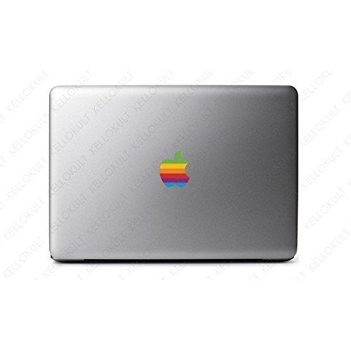 Macbook Air Macbook Pro ステッカー スキンシール レトロ レインボー Apple Macintosh ロゴ M369