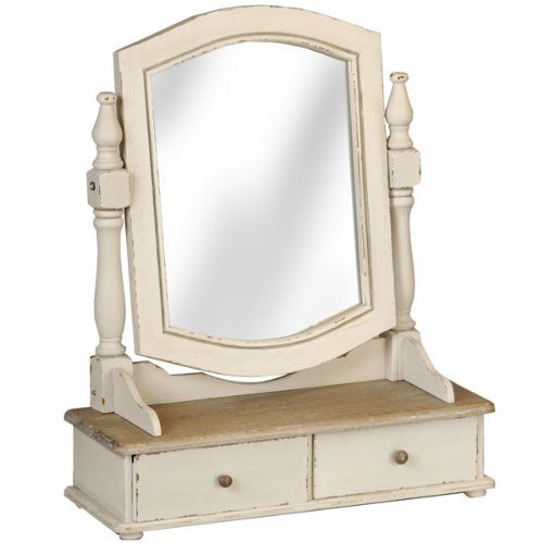 French Country Cream Dressing Table Swing Mirror
