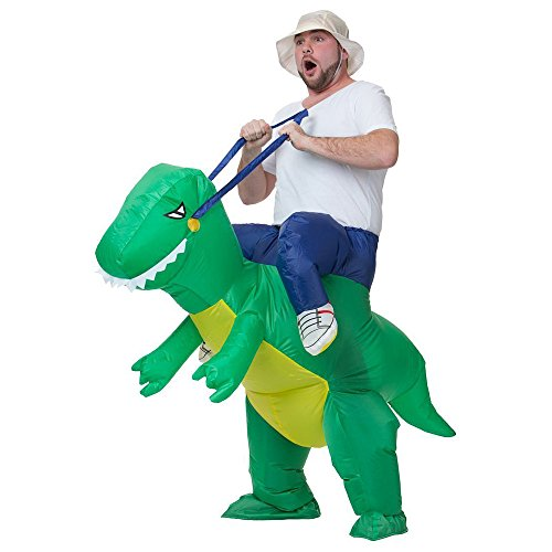 Man Riding T-Rex Costume