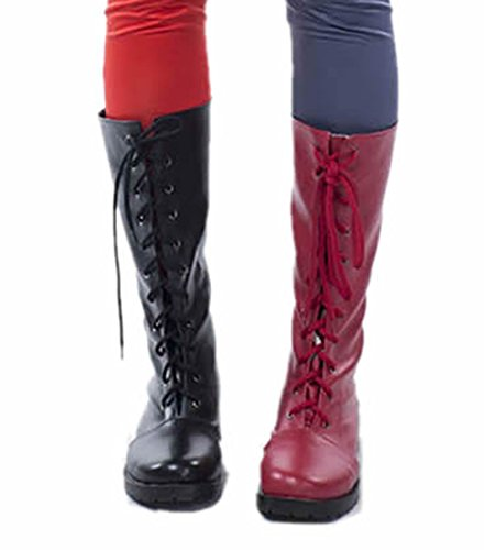 Harley Quinn Boots Arkham City Cosplay Fashion PU Shoes Custom Made