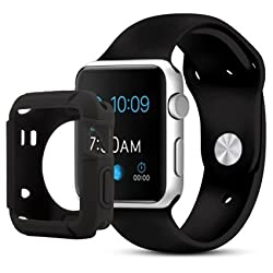 iGotTech Apple Watch Case, Full Body Protective Cover, Mens 42mm Accessories, 2015 Model, Smart Black