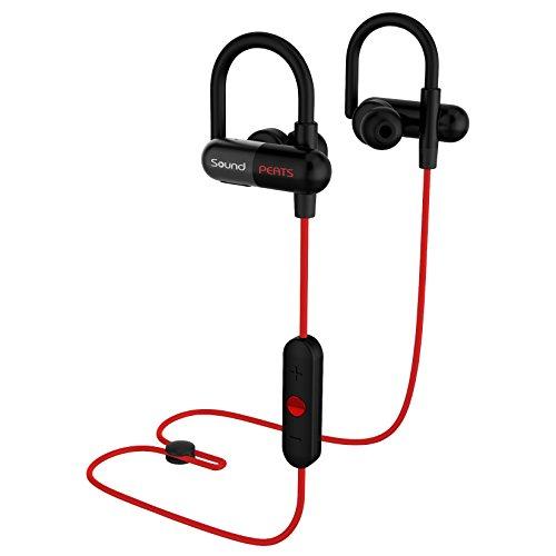 SoundPEATS Bluetooth イヤホン 高音質〔黒赤2色〕apt-Xコーデック採用 耳にひっかけるスポーツタイプ 防水防滴 [メーカー直販/1年保証付] CVC6.0ノイズキャンセリング機能 ブルートゥース イヤホン Bluetooth ヘッドホン Q11 レッド