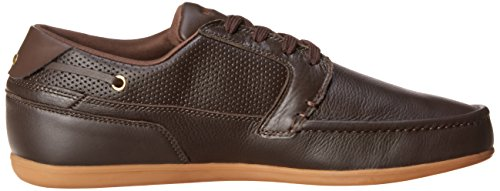 Lacoste Men's Dreyfus Boat Shoe,Dark Brown,12 M US