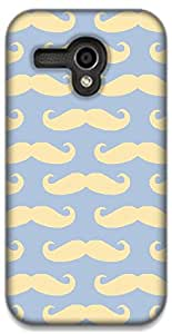 The Racoon Grip printed designer hard back mobile phone case cover for Moto G (1st Gen). (Mustaches)