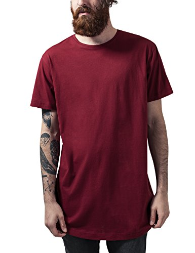 Urban Classics Shaped Long Tee, T-Shirt Uomo, Rot (Burgundy 606), M