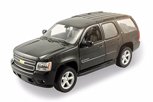 new-124-w-b-welly-collection-black-2008-chevrolet-tahoe-street-version-diecast-model-car-by-welly