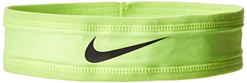 Nike Speed Performance Headband (One Size Fits Most, Volt/Black) Sweatband Swoosh Logo