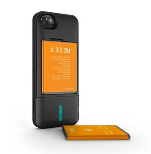 Special Sale ibattz Mojo Refuel 2200 Charger Case for iPhone 5 - Retail Packaging - Black