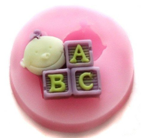 Allforhome Small Baby Abc Silicone Sugar Resin Craft Diy Moulds Diy Gum Paste Flowers Cake Decorating Fondant Mold front-90540