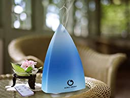 KOKO AROMA Ultrasonic Essential Oil Diffuser Aromatherapy Cool Mist Air Humidifier with 7 Color LED Lights Changing and Waterless Auto Shut-off Function Timing function for Home Office Bedroom Room