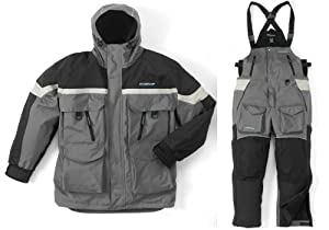 Clam 9116 3XL GRAY BLACK IceArmor Extreme Insulated Cold Weather Parka & Bib Suit by Clam