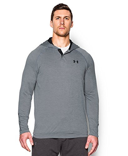 Under Armour Men's Tech Popover Hoodie, Steel (035), Medium