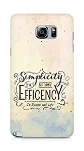 Amez Simplicity is the best form of Efficency Back Cover For Samsung Galaxy Note 5