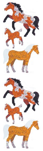 Jillson Roberts Prismatic Stickers, Horses, 12-Sheet Count (S7063)