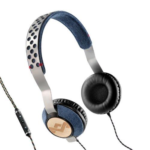 House Of Marley Em-Jh073-Dn Liberate Denim On-Ear Headphones Em-Jh073-Dn