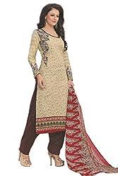 Gugaliya Women's 100 % Cotton UNSTICHED Salwar, Kameez & Dupatta Suit (SJ- 3117)