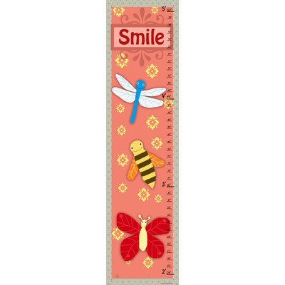 Green Leaf Art Growth Chart, Smile - 1
