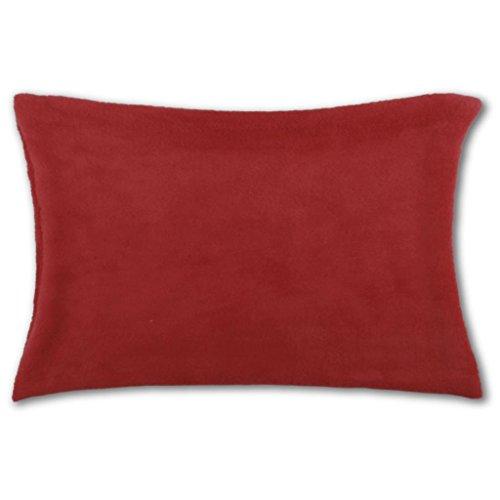 Kissenhülle Kuschel 30 x 50, Auswahl: rot - scarlett mit Füllung