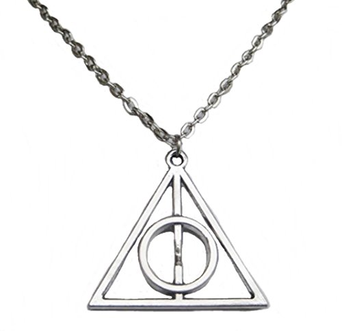 COLLANA .DEATHLY TRIANGLE POTTER ADATTO PER UOMO E DONNA.