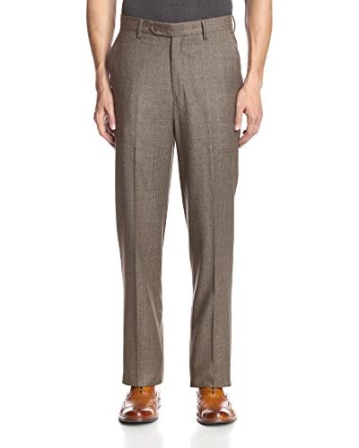 Berle Men's Houndstooth Wool Flat Front Pant