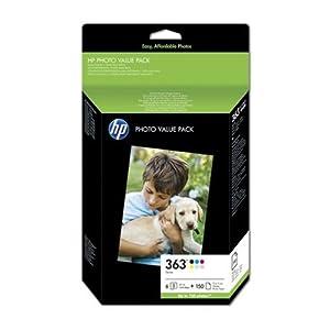HP - 363 Series Photo Value Pack - Cartouche imprimante et kit papier - 1 x noir, jaune, cyan, magenta, magenta clair, cyan clair