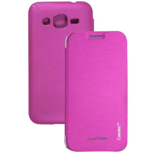 Casotec Premium Flip Case Cover for Samsung Galaxy Core Prime G3606 - Pink  available at amazon for Rs.125