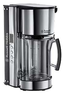 Russell Hobbs Black Glass Digitale 19650-56 Kaffeemaschine silber