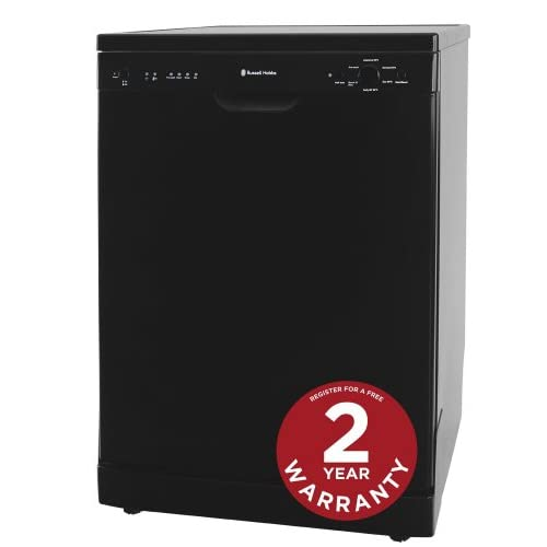 Russell Hobbs Black Freestanding 60cm Wide Dishwasher RHDW2B - Free 2 Year Warranty*