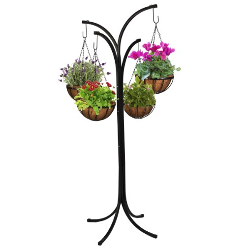 CobraCo HB4T-A 4-Arm Tree with 4 Hanging Baskets