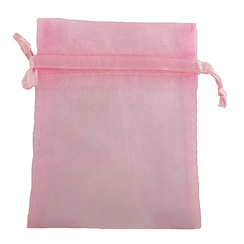 12X Organza Gift Bags For Weddings & Party Favors - Approx 4X5 Inch - Pink front-88884