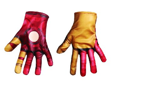 Iron Man 3 Mark 42 Classic Gloves, Child front-1016880