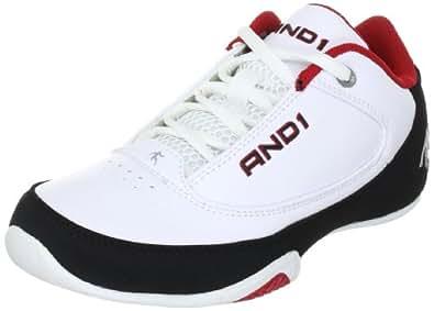 AND1 SLASHER LOW Kid's 1001201128, Chaussures de basketball mixte enfant - TR-B2-Blanc-87, 33 EU
