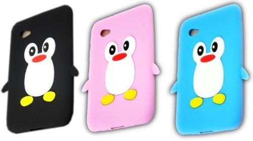 Samsung Galaxy Tab 2 P3100 P3110 P6200 3x SET Pinguin Schutz-Hülle Silikon Case Schale Cover 3D thematys®