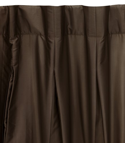 Umbra Pleatta 50-Inch-by-84-Inch Pleated Taffeta Drapery Panel, Chocolate
