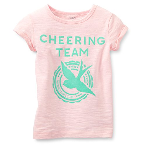Carter's Girl Cheerleader Sparkle Tee (4 Kids, Light Pink)
