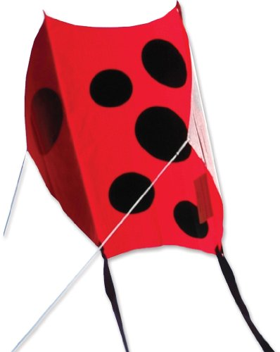 Premier 17236 Mini Sled Kite with Flexible Fiberglass Spars, Ladybug