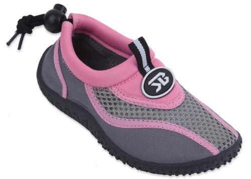 New Starbay Brand Kid's Pink & Gray Athletic Water Shoes Aqua Socks Size 11 (Water Shoes Girls compare prices)