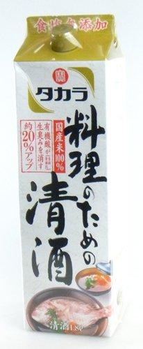 宝 本料理清酒 料理のための清酒 パック 1800ml