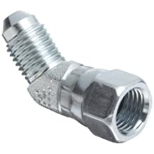 "EATON Aeroquip 2070-4-4S 45 Degree Swivel Nut Elbow, JIC 37° End Types, Carbon Steel, 1/4 JIC(f) x 1/4 JIC(m) End Size, 1/4"" Tube OD"