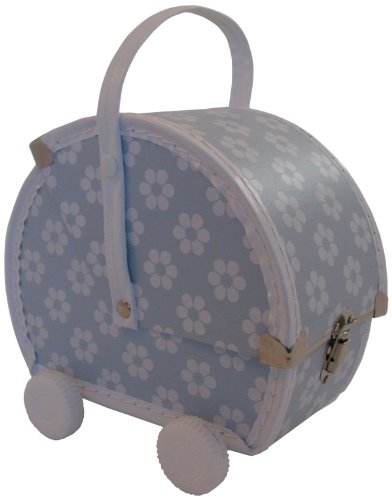 Pram, Blue/White Flowers front-994979